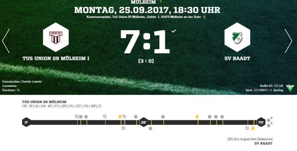 C1 – Gewinnt Nachholspiel gegen SV Raadt