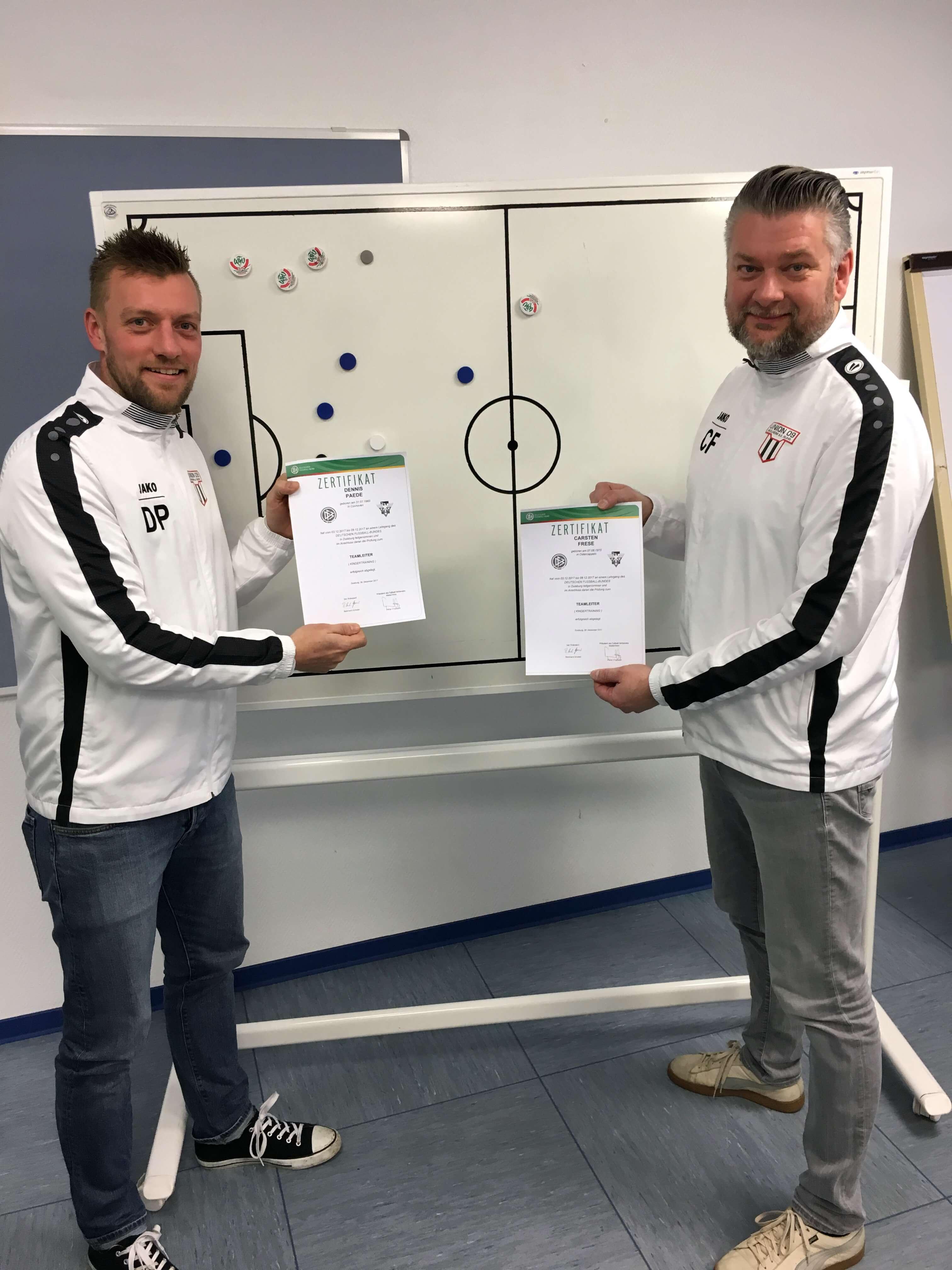 Zwei neue Teamleiter in der Jugendabteilung