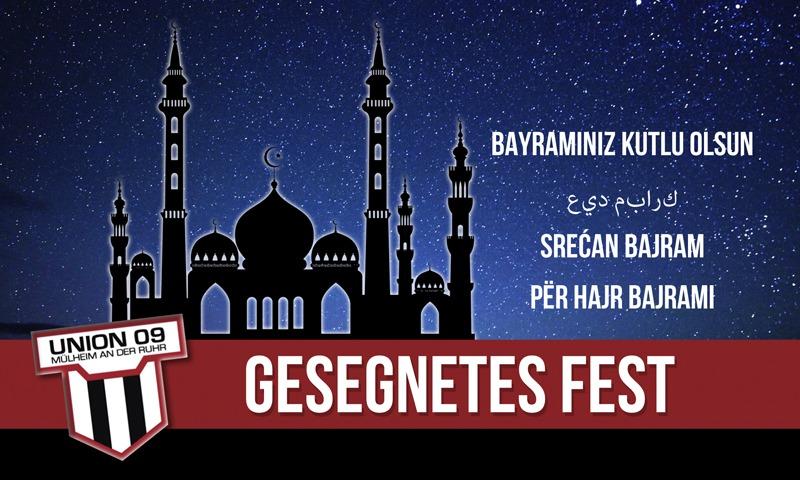 Ein gesegnetes Zuckerfest -عيد الفطر –  oruç festivali