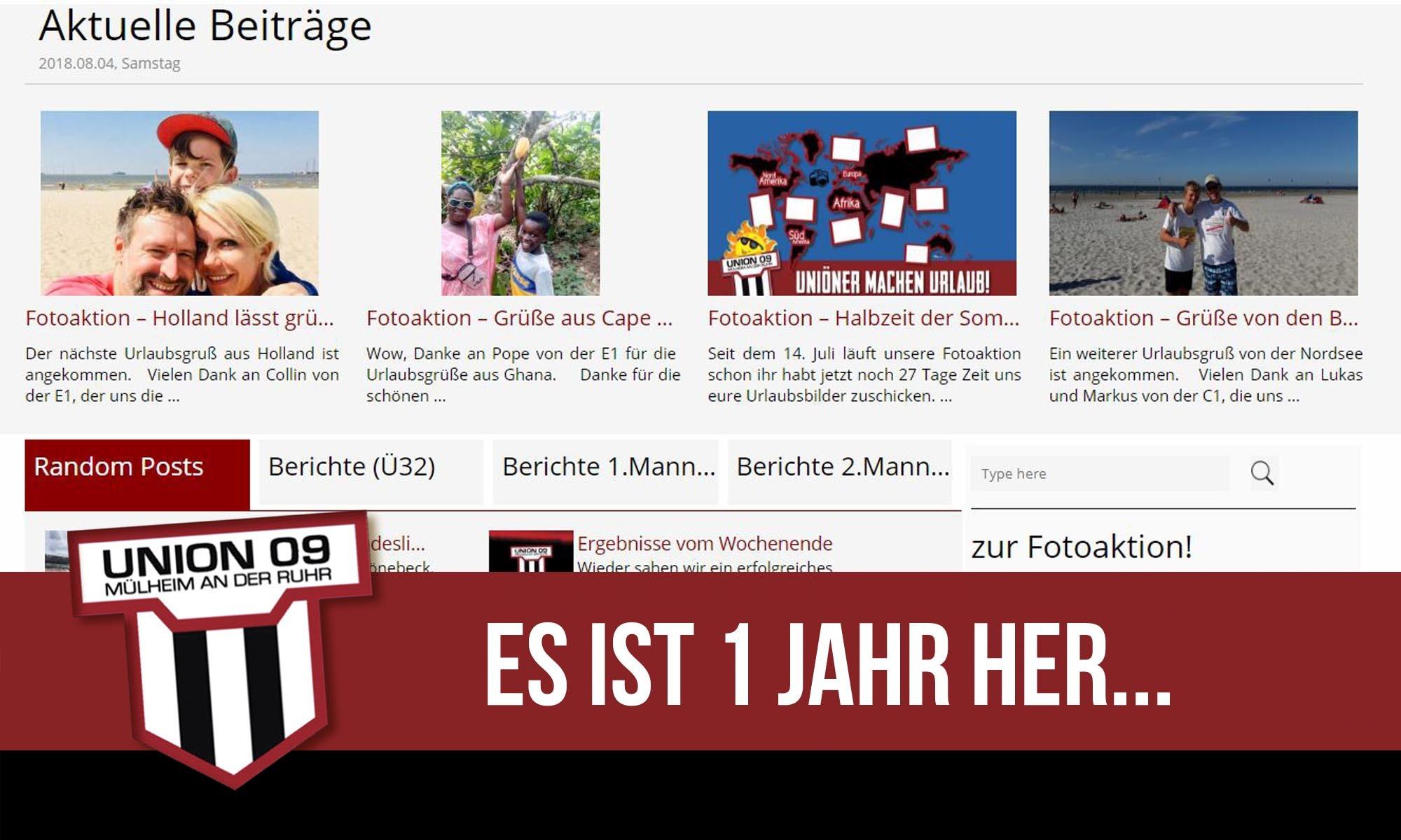 """Die """"neue"""" Homepage feiert ihren ersten Geburtstag!"""