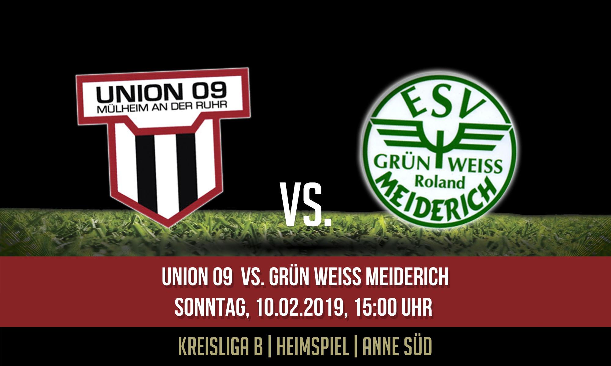 1.Mannschaft – startet gegen GW Meiderich in die Rückrunde
