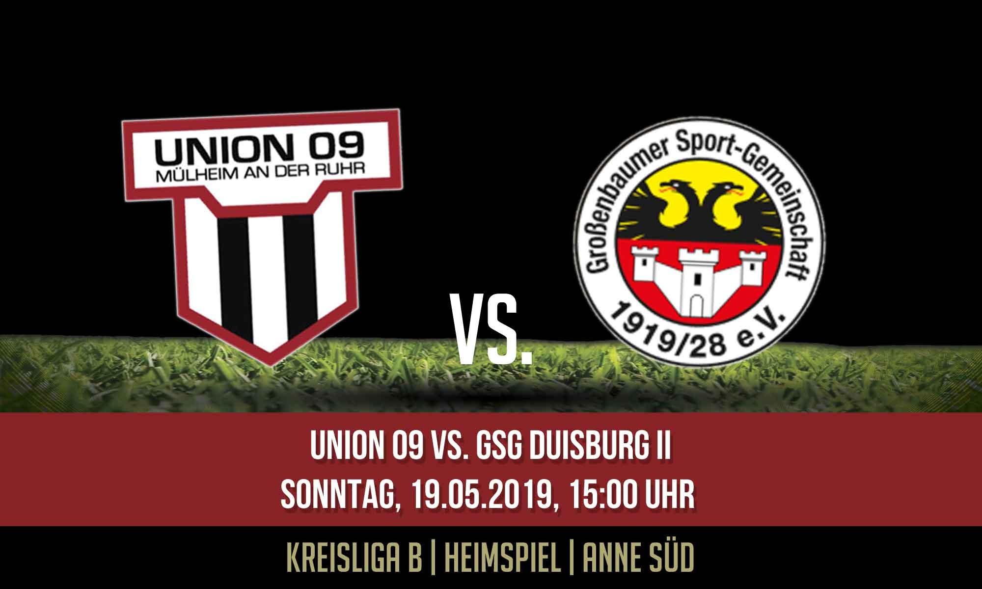 1.Mannschaft – empfängt Tabellenzweiten GSG Duisburg II