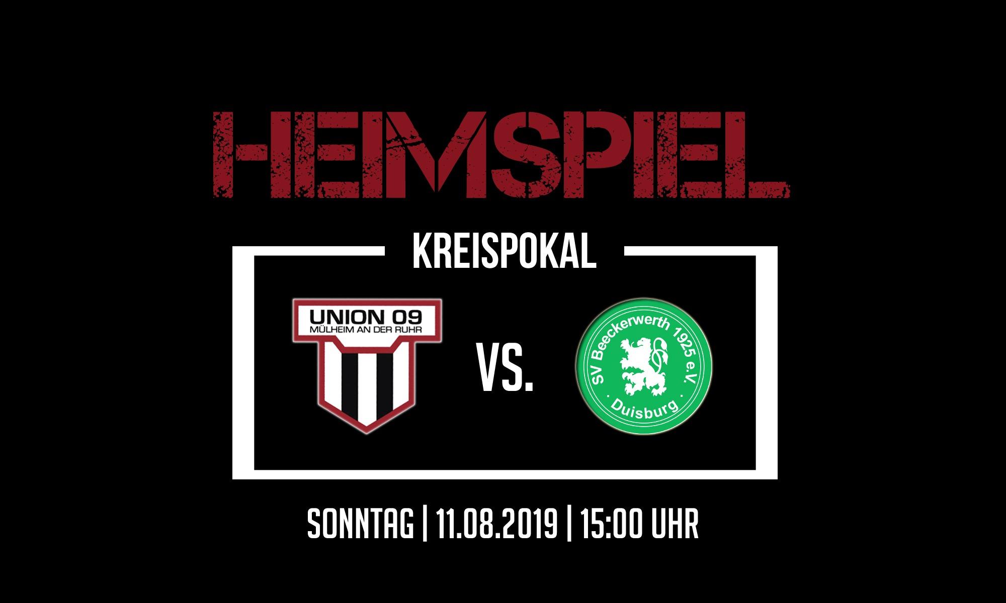 1.Mannschaft – im Kreispokal gegen den SV Beeckerwerth
